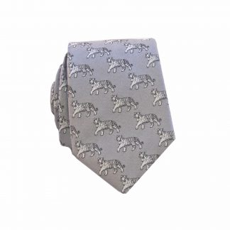 Grey Tigers Men's Skinny Tie