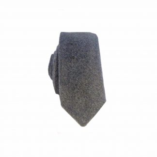 Charcoal Solid Wool Men's Skinny Tie