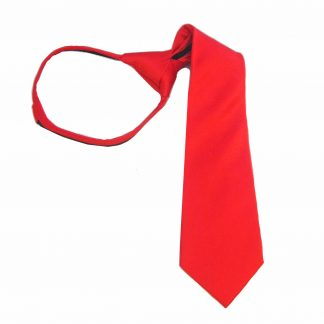 "11"" Zipper Red Solid Boy's Tie, 8584-0"