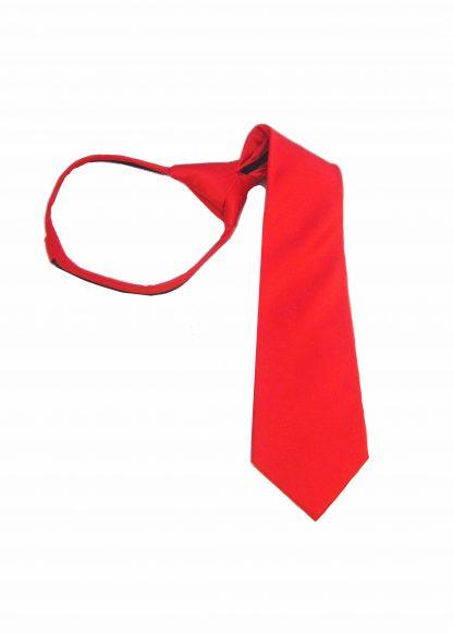 """14"""" Zipper Red Solid Boy's Tie, 8586-0"""