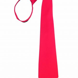 "17"" Zipper Red Solid Men's Tie"