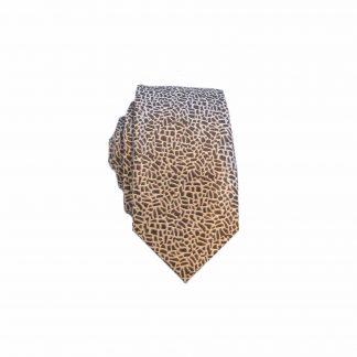 Brown Cream Batik Men's Skinny Tie