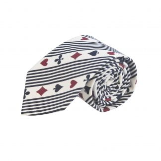 Playing Cards Cotton Men's Tie