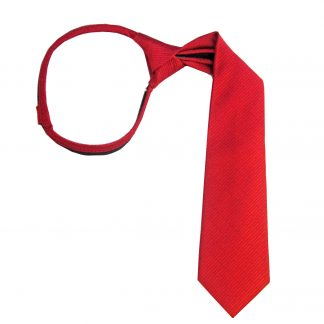 """11"""" Zip Red Tone on Tone Small Square Boy's Tie"""