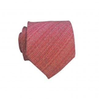 Medium Red Muted Texture Boy's Tie