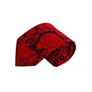 Burgundy Black Paisley Men's Tie