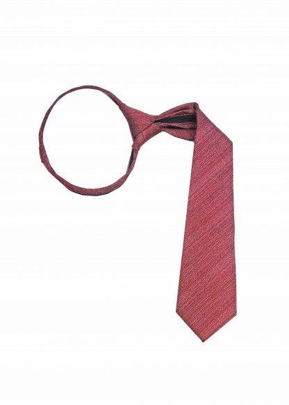 "14"" Zip Medium Red Muted Texture Boy's Tie"