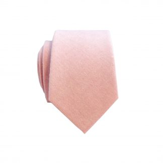 Pink Solid Men's Cotton Skinny Tie