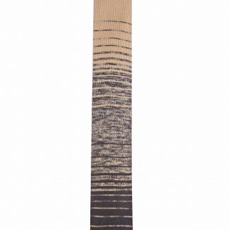 Brown Yellow Horizontal Faded Stripe Knit Men's Tie