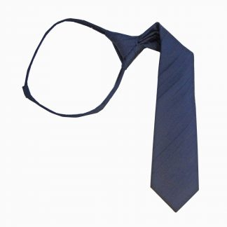"11"" Zip Navy Tone on Tone Stripe Boy's Tie"