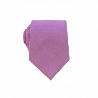 Medium Purple Men's Cotton Skinny Tie