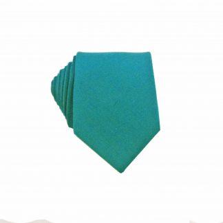 Teal Men's Cotton Skinny Tie