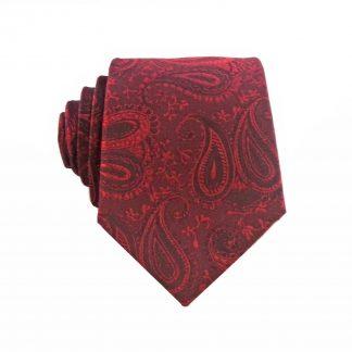 "49"" Boys Burgundy Paisley Tie"