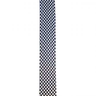 Black White Check Knit Men's Tie