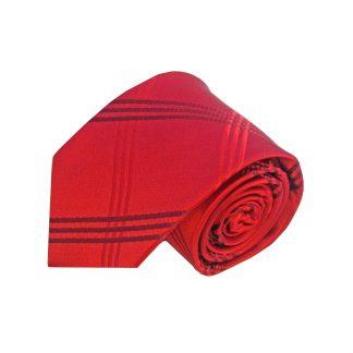 Red Criss Cross Men's Tie