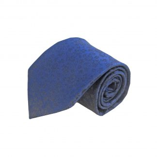 Navy Tone on Tone Floral Men's Tie and Pocket Square