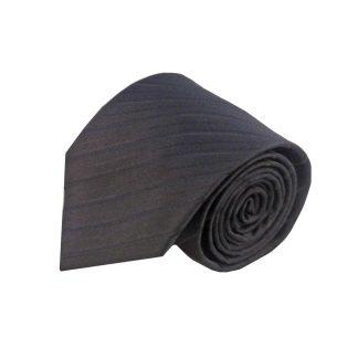 Black Tone on Tone Stripe Men's Tie