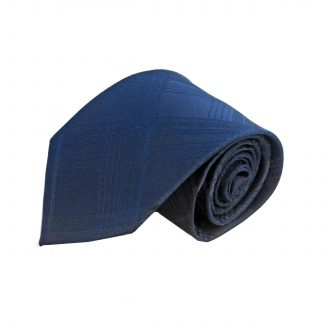 Navy Tone on Tone Plaid Men's Tie