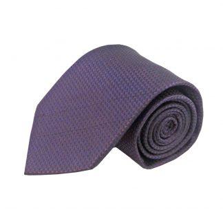 Dark Purple Tone on Tone Small Diamond Men's Tie