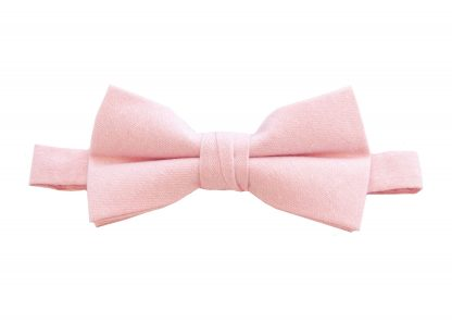 Pink Solid Cotton Men's Banded Bow Tie 1994-0
