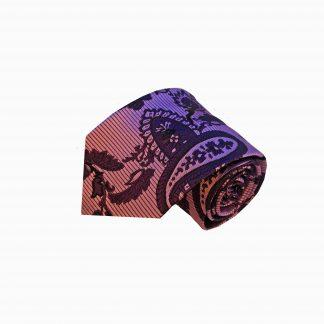 Purple Lavender Navy Paisley Men's Tie