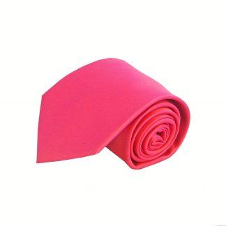 Hot Pink Silk Solid Men's Tie w/Pocket Square