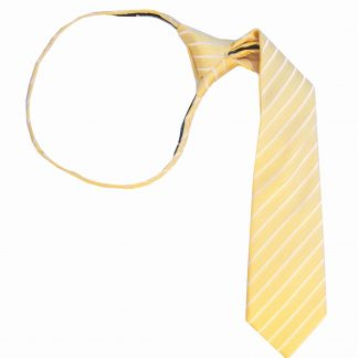 "14"" Zip Yellow Stripe T/T Boy's Tie"