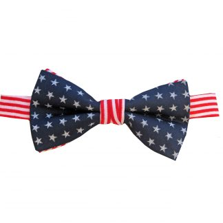 Stars, Stripes Banded Bow Tie