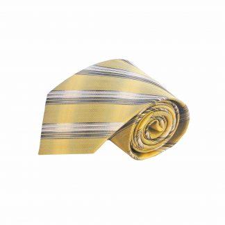 Yellow, Gray Stripe Men's Tie 11486-0