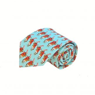 Aqua Rabbits Men's Tie