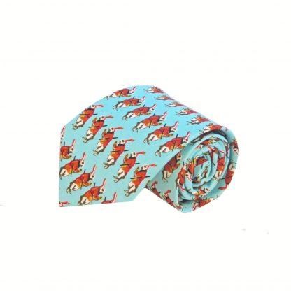 Aqua Rabbits Men's Tie