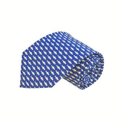 Blue Fishes Men's Tie