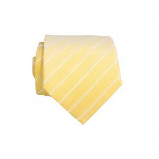 """49"""" Yellow Tone on Tone Stripe Boys Tie"""