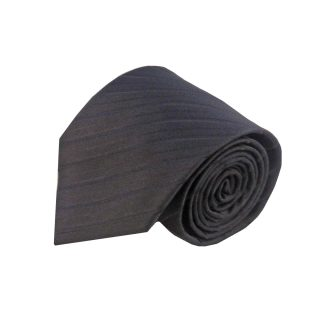 Black Tone on Tone Stripe Men's Tie