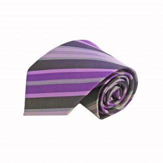 Purple, Gray Stripe Men's Tie, 8743-0