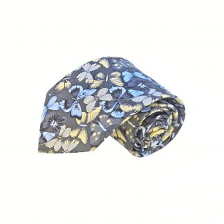 Gray, Blue, Taupe Butterfly Men's Tie