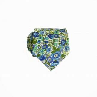 "49"" Boys Cream,Blue, Green, Purple Floral 8376-0"
