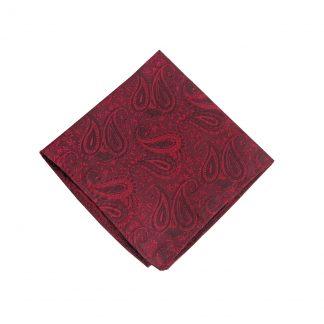 Burgundy Paisley Tone on Tone Pocket Square 9029-0