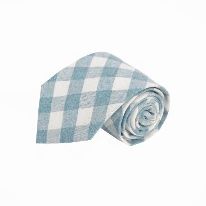 French Blue, Cream Criss Cross Cotton Men's Tie 10819-0