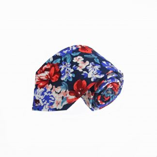 Navy, Red, Purple, Salmon Floral Men's Tie 4495-0