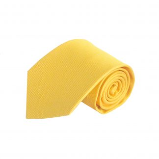 Bright Yellow Solid Tone on Tone Small Squares Men's Tie 7909-0