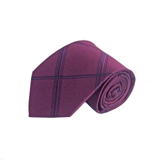Burgundy, Navy Criss Cross Men's Tie 2408-0