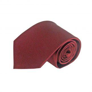 Burgundy Solid Tone on Tone Men's Tie w/Pocket Square 8429-0