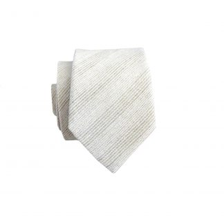 Light Sage, Cream Stripe Cotton Skinny Men's Tie 10163-0