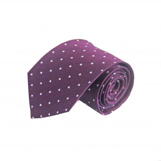 Purple with White Dots Silk Men's Tie 4289-0