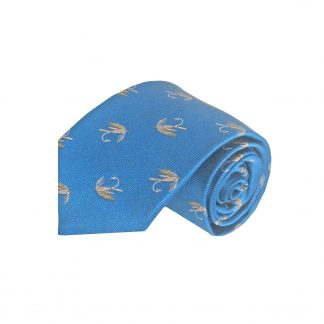 Blue Flies/Fishing Men's Tie 3410-0