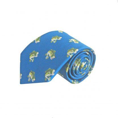 Blue, Green Bass Men's Tie 10161-0