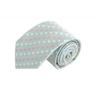 French Blue Ice Cream Cone Men's Tie 9503-0