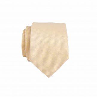 Tan Solid Tone on Tone Small Square Skinny Men's Tie 8591-0