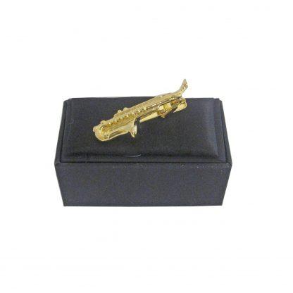 Gold Saxophone Tie Bar 11364-0
